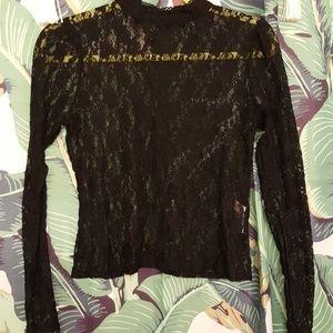 Rare Swankiss Japan Black Stetch Lace Top Lolita S